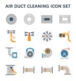 Καθαρισμός αεραγωγών διανυσματική απεικόνιση