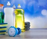 Καθαρισμός, ζωηρόχρωμο θέμα εγχώριας εργασίας Στοκ Εικόνα