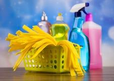 Καθαρισμός, ζωηρόχρωμο θέμα εγχώριας εργασίας Στοκ εικόνες με δικαίωμα ελεύθερης χρήσης