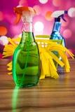 Καθαρισμός, ζωηρόχρωμο θέμα εγχώριας εργασίας Στοκ εικόνα με δικαίωμα ελεύθερης χρήσης