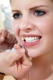 καθαρισμός οδοντικός Στοκ Φωτογραφίες