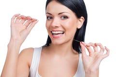 καθαρισμός οδοντικός Στοκ Φωτογραφία