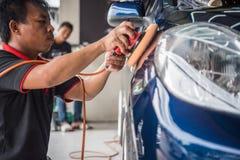 Καθαρισμός του αυτοκινήτου Στοκ Φωτογραφία