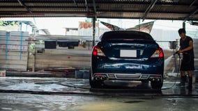 Καθαρισμός του αυτοκινήτου Στοκ Εικόνες