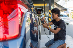 Καθαρισμός του αυτοκινήτου Στοκ Εικόνα