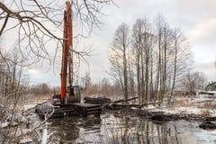 Καθαρισμός του ποταμού Malashka Στοκ Εικόνες