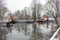 Καθαρισμός του ποταμού Malashka Στοκ Φωτογραφία