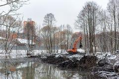 Καθαρισμός του ποταμού Malashka Στοκ Εικόνα
