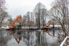 Καθαρισμός του ποταμού Malashka Στοκ εικόνες με δικαίωμα ελεύθερης χρήσης