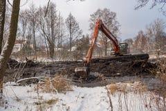 Καθαρισμός του ποταμού Malashka Στοκ φωτογραφία με δικαίωμα ελεύθερης χρήσης