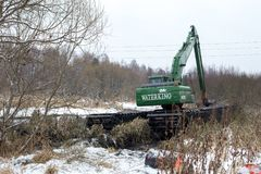 Καθαρισμός του ποταμού Pekhorka Στοκ εικόνες με δικαίωμα ελεύθερης χρήσης