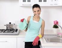 Καθαρισμός του σπιτιού Στοκ Εικόνα
