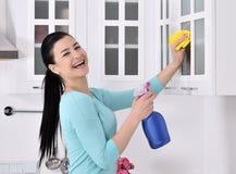 Καθαρισμός του σπιτιού Στοκ εικόνες με δικαίωμα ελεύθερης χρήσης