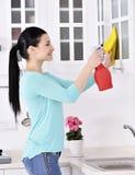 Καθαρισμός του σπιτιού Στοκ Φωτογραφία