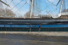 Καθαρισμός του Cutty Sark Στοκ φωτογραφία με δικαίωμα ελεύθερης χρήσης