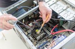 Καθαρισμός υπολογιστών Στοκ Εικόνες