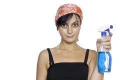 Καθαριστής γυναικών και παραθύρων Στοκ εικόνα με δικαίωμα ελεύθερης χρήσης