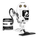 Καθαριστής ρομπότ απομονωμένο έννοια λευκό τεχνολογίας απομονωμένος Περιέχει το μονοπάτι ψαλιδίσματος διανυσματική απεικόνιση