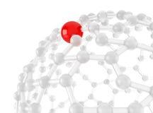 Καθαροί κόμβοι έννοιας δικτύων Στοκ Εικόνα