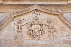 καθαρτήριο apulia church colle del palo $matera Βασιλικάτα Ιταλία Στοκ Φωτογραφία