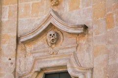 καθαρτήριο apulia church colle del palo $matera Βασιλικάτα Ιταλία Στοκ εικόνα με δικαίωμα ελεύθερης χρήσης