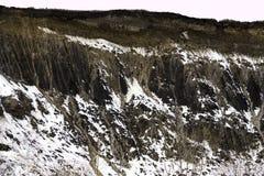 Καθαρός απότομος βράχος με τα ίχνη της εδαφολογικής διάβρωσης στο θόριο λωρίδων fromn κάτω Στοκ φωτογραφίες με δικαίωμα ελεύθερης χρήσης