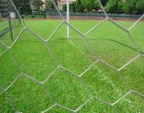 Καθαρός ενός στόχου ποδοσφαίρου Στοκ εικόνες με δικαίωμα ελεύθερης χρήσης