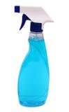 καθαρότερος ψεκασμός γυαλιού μπουκαλιών Στοκ Φωτογραφίες