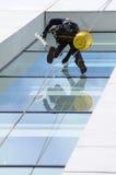 καθαρότερο παράθυρο Στοκ Εικόνες