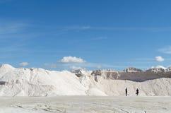Καθαρό άσπρο αλατισμένο βουνό θάλασσας Στοκ Φωτογραφία