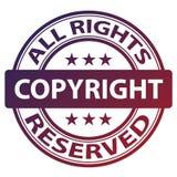 καθαρό γραμματόσημο πνευματικών δικαιωμάτων διανυσματική απεικόνιση