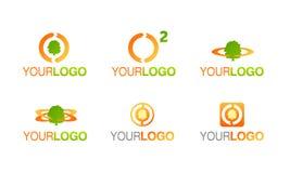 καθαρό ενεργειακό λογότ Στοκ φωτογραφία με δικαίωμα ελεύθερης χρήσης