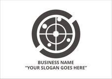 Καθαρό διάνυσμα επιχειρησιακών εκλεκτής ποιότητας προτύπων λογότυπων Στοκ Εικόνες