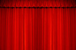 καθαρό μεγάλο κόκκινο βελούδο πολυτέλειας Στοκ Εικόνα