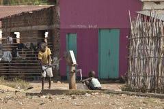 Καθαρό νερό στο Νότιο Σουδάν Στοκ Εικόνες