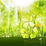 καθαρό περιβάλλον ανακύκ& διανυσματική απεικόνιση