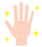 καθαρό χέρι Υγιεινή χεριών Στοκ φωτογραφία με δικαίωμα ελεύθερης χρήσης