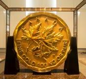Χρυσό νόμισμα εκατομμύριο δολαρίων Barrick Στοκ Φωτογραφία