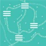 Καθαρό blockchain βάσεων δεδομένων απεικόνιση αποθεμάτων