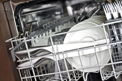 Καθαρό Dishware Στοκ φωτογραφία με δικαίωμα ελεύθερης χρήσης