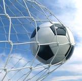 καθαρό soccerball Στοκ Φωτογραφία