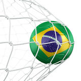 καθαρό soccerball Στοκ φωτογραφία με δικαίωμα ελεύθερης χρήσης