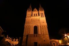 Καθεδρικός ναός Άγιος-Maurice τη νύχτα, Γαλλία Στοκ φωτογραφία με δικαίωμα ελεύθερης χρήσης