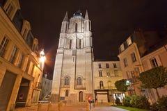 Καθεδρικός ναός Άγιος-Maurice τη νύχτα, Γαλλία Στοκ Εικόνες