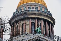 Καθεδρικός ναός Αγίου isaacs σε Άγιο Πετρούπολη, Ρωσία στοκ εικόνες με δικαίωμα ελεύθερης χρήσης