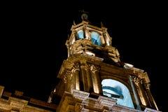 Καθεδρικός ναός βασιλικών Arequipa τη νύχτα Στοκ εικόνα με δικαίωμα ελεύθερης χρήσης