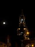 Καθεδρικός ναός βασιλικών Arequipa τη νύχτα Στοκ φωτογραφία με δικαίωμα ελεύθερης χρήσης