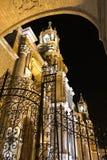 Καθεδρικός ναός βασιλικών Arequipa Plaza de Armas σε Arequipa τη νύχτα Στοκ Φωτογραφίες