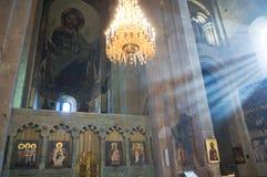 καθεδρικός ναός Γεωργία μέσα στο svetitskhoveli μ Στοκ φωτογραφίες με δικαίωμα ελεύθερης χρήσης
