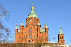 καθεδρικός ναός Ελσίνκι u Χτισμένα 1868, αυτό είναι μεγαλύτερος ορθόδοξος καθεδρικός ναός στη δυτική Ευρώπη Στοκ φωτογραφία με δικαίωμα ελεύθερης χρήσης